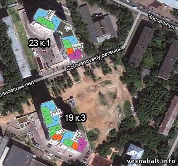 Планировки домов и квартир ЖК Весна на Балтийском